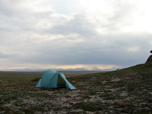 Camping at Serpentine Hot Springs, Bering Land Bridge National Preserve