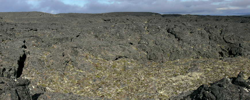 A view of the nasty landscape of the Lost Jim Lava Flow on Bering Land Bridge National Preserve
