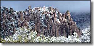 Chiricahua National Monument in the winter