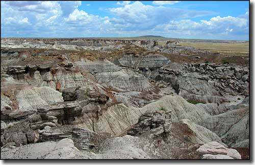 Eroded badlands in the Blue Mesa area