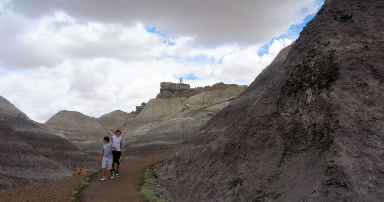 On the Blue Mesa Trail at Petrified Forest National Park