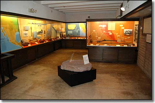 Inside the museum at Tubac Presidio State Historic Park