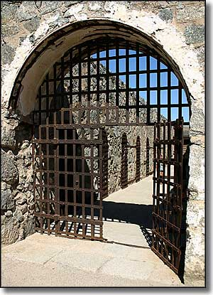 Entry gate at Yuma Territorial Prison State Historic Park