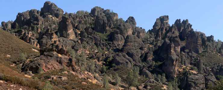 Rock formations at Pinnacles National Park