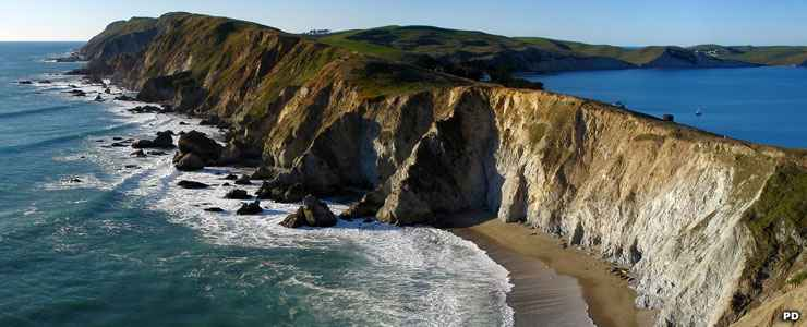 A view of the headlands at Point Reyes National Seashore