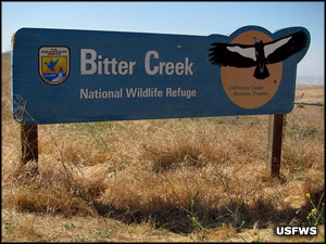 Bitter Creek National Wildlife Refuge sign