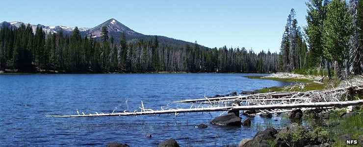 Eiler Lake in Thousand Lakes Wilderness