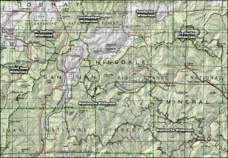 Weminuche Wilderness National Wilderness Areas
