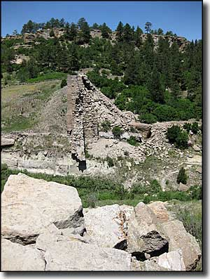 The ruins of Castlewood Dam at Castlewood Canyon State Park