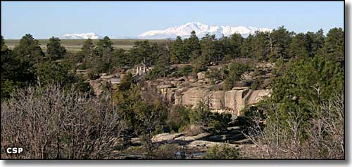 A view at Castlewood Canyon State Park