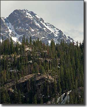 Typical mountain view in Eagles Nest Wilderness