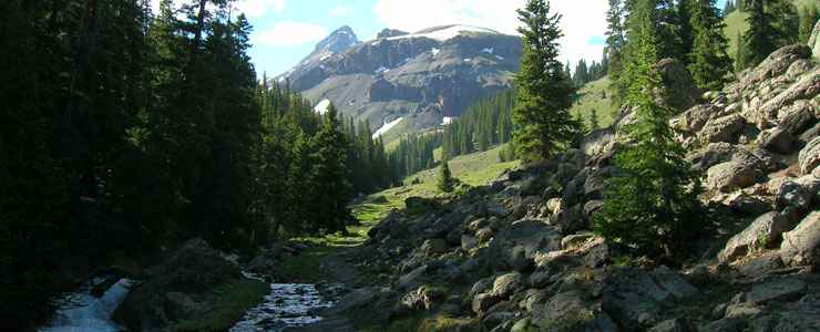 Looking into the heart of Uncompahgre Wilderness