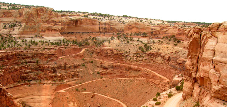 The Shaffer Trail at Canyonlands National Park