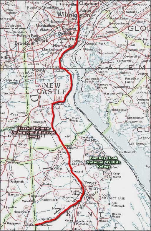 Underground Railroad New York Map.Harriet Tubman Underground Railroad Byway Delaware Scenic Byways
