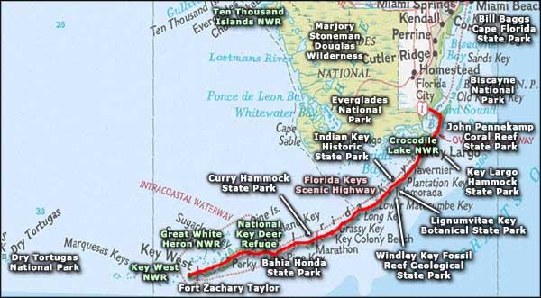 Map Key West Florida.Dagny Johnson Key Largo Hammock Botanical State Park Florida State