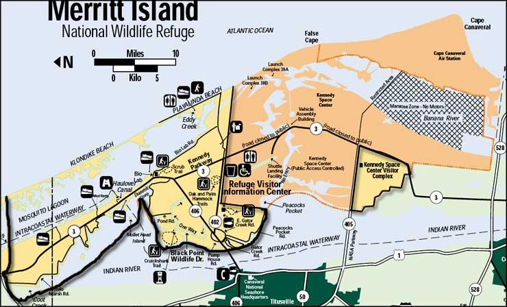 Merritt Island National Wildlife Refuge Map Merritt Island National Wildlife Refuge | Florida National