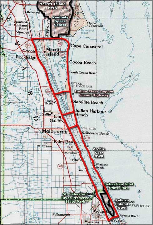 Indian River Florida Map.Indian River Lagoon Scenic Highway Scenic Byways