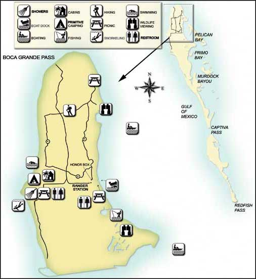 Florida State Parks Camping Map.Cayo Costa State Park Florida State Parks
