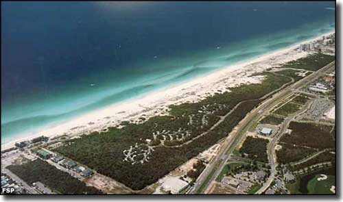 An Aerial View Of Henderson Beach State Park