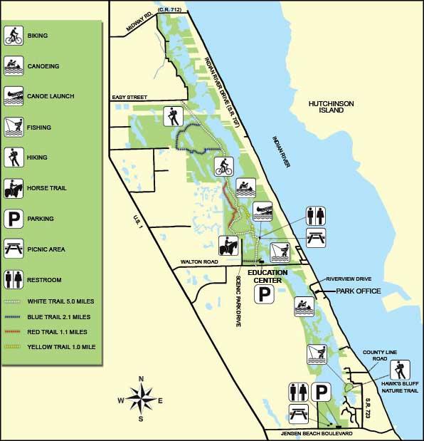 Map Of Florida State Parks.Savannas Preserve State Park Florida State Parks