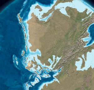 Map of North America 315  million years ago
