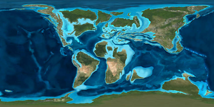 A map of the world in the early Cretaceous