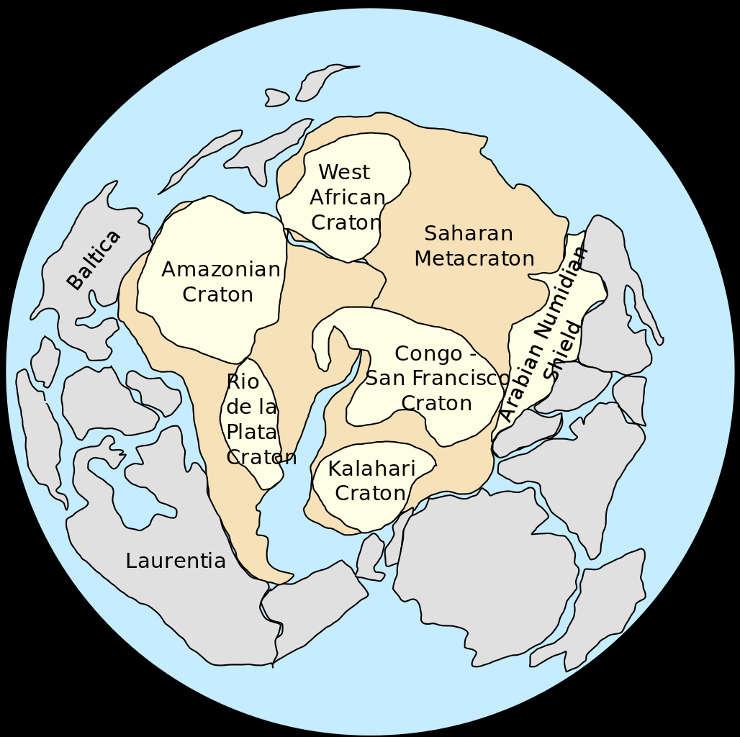 Afbeeldingsresultaat voor pannotia supercontinent