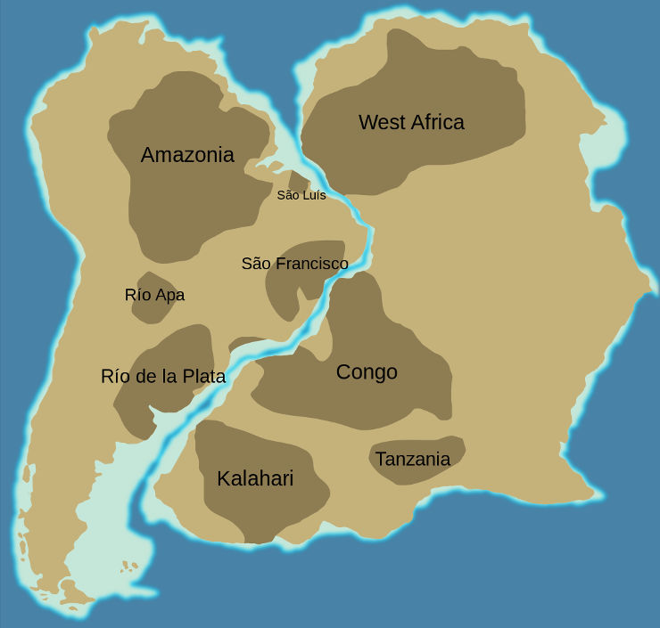 The cratons of West Gondwana