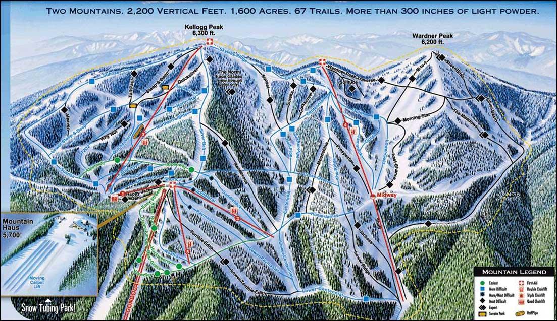 Silver mountain resort idaho ski and snowboard areas for Silver mountain cabins