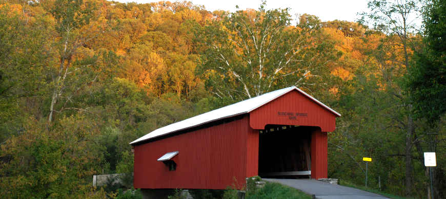 Busching Covered Bridge, along Indiana's Historic Pathways