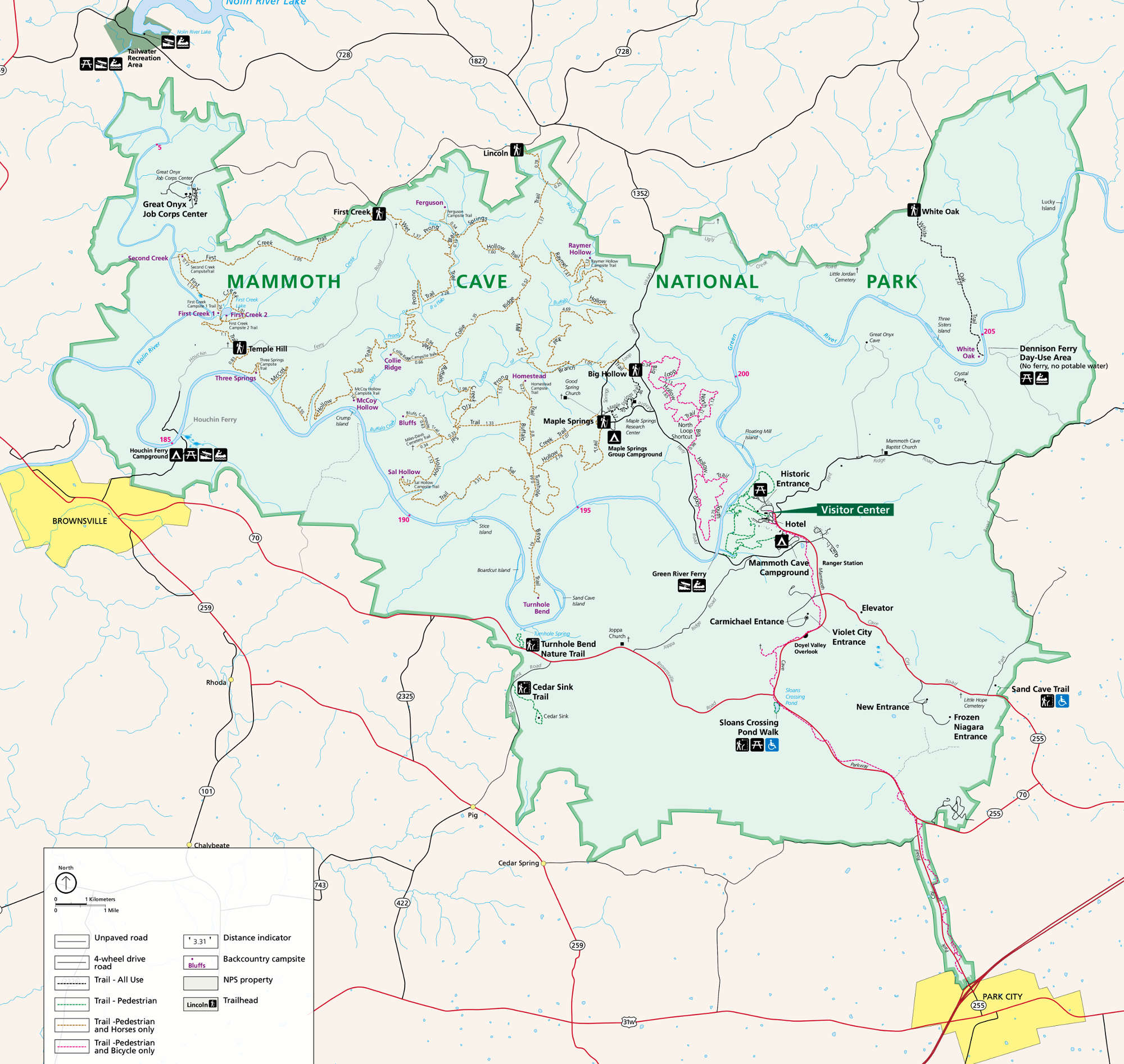 Mammoth Cave National Park National Park Service Sites