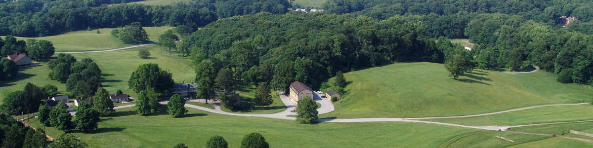 An aerial view of estates in Delaware's Chateau Country