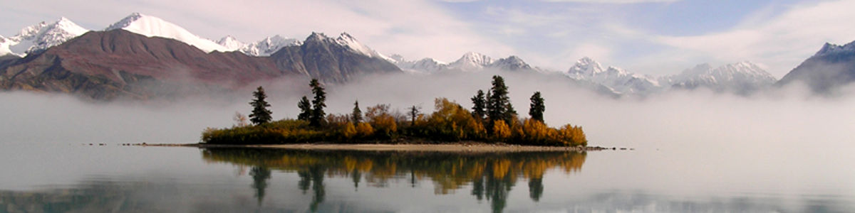 A morning view at Lake Clark National Park in Alaska