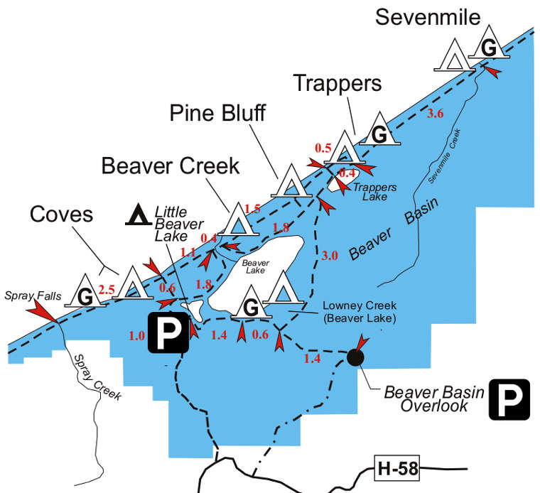 Pictured Rocks Michigan Map.Pictured Rocks National Lakeshore National Park Service Sites