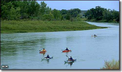 Floaters on the Missouri River