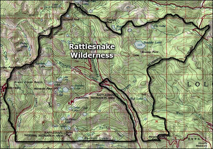 Rattlesnakes In Colorado Map.Rattlesnake National Recreation Area And Wilderness The Sights And
