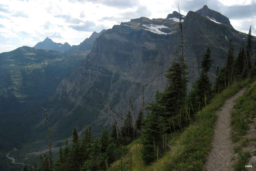 Getting close to Browns Pass in Glacier National Park