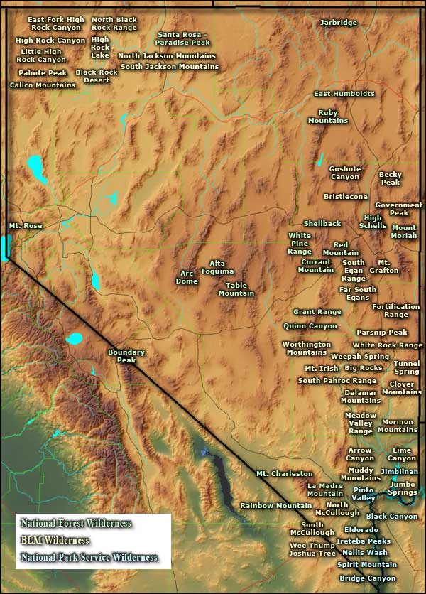 National Wilderness Areas In Nevada Nevada National