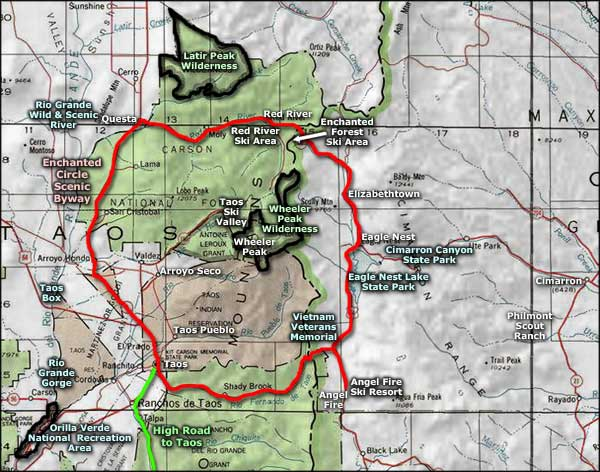 Ski In New Mexico Map.Red River Ski Area The Sights And Sites Of America