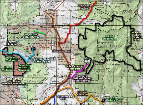 Ski Santa Fe   The Sights and Sites of America on flagstaff ski map, colorado ski map, taos ski map, pamporovo piste map, new mexico ski map, red river nm map, jackson hole ski map, aspen ski map, red river ski area map, mont tremblant ski map,