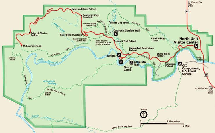 theodore roosevelt national park north dakota national park rh thearmchairexplorer com theodore roosevelt national park cottonwood campground map theodore roosevelt national park south unit map