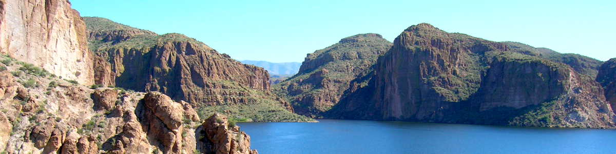 Canyon Lake on the Salt River in east-central Arizona