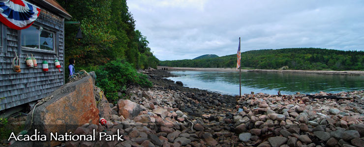 An inlet at Acadia National Park