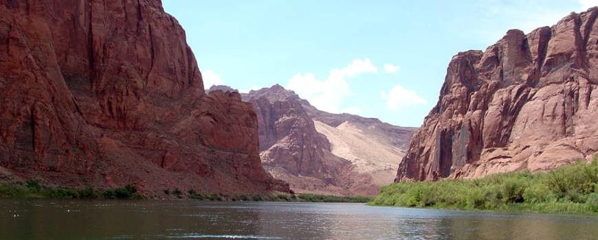 Rafting down the Colorado River through Glen Canyon National Recreation Area