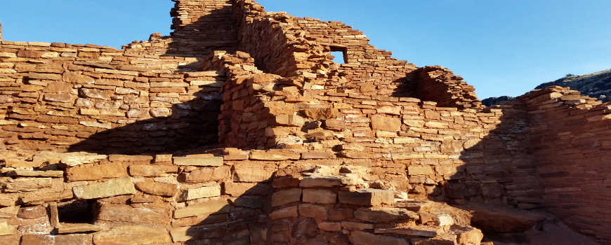 A view of one of the ancient pueblos in Wupatki National Monument