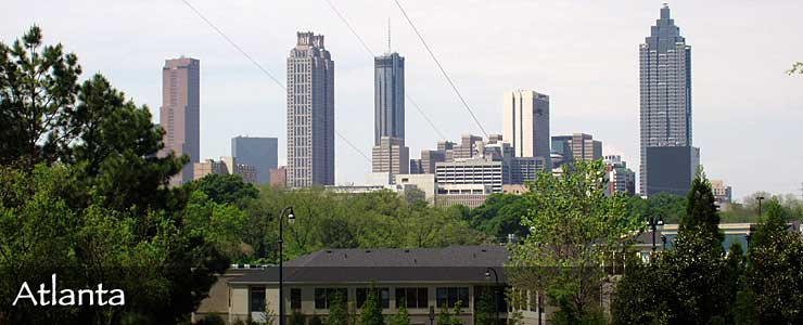 The Atlanta skyline by day