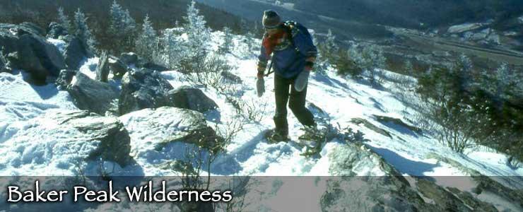 Snowshoeing in Baker Peak Wilderness