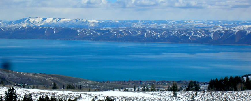 Looking east across Bear Lake in Idaho