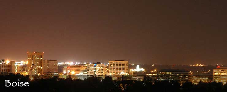 Boise at night
