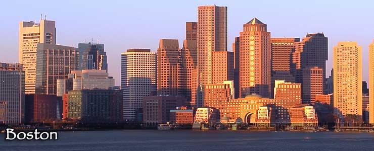 Boston skyline in 2012